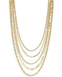 Laundry by Shelli Segal - Layered Goldtone Necklace - Lyst