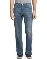 7 For All Mankind - Luxe Performance Standard Straight-leg Jeans - Lyst