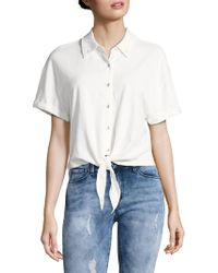 Splendid - Roma Cotton Button-down Shirt - Lyst