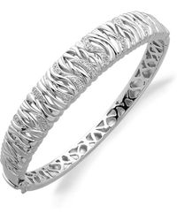 Lord & Taylor - Diamond And Sterling Silver Bracelet - Lyst