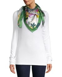 Vince Camuto - Floral Silk Scarf - Lyst