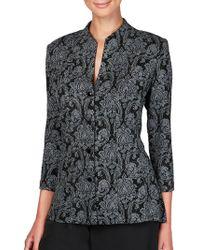Alex Evenings - Plus Dotted Floral Jacquard Jacket - Lyst