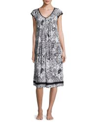 Ellen Tracy - Yours To Love Scallop-sleeved Nightgown - Lyst