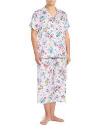 Karen Neuburger - Plus Two-piece Floral Capri Pyjama Set - Lyst