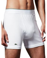 Lacoste - Essentials Cotton Boxer Brief- Pack Of 3 - Lyst