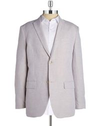 Perry Ellis - Linen-blend Jacket - Lyst