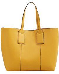 Mango - Pebbled Shopper Bag - Lyst