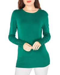 Dorothy Perkins - Ribbed Button Cuff Sweater - Lyst