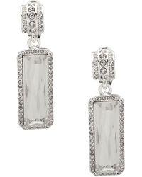 Ralph Lauren - Crystal Drop Earrings - Lyst