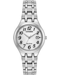 Citizen - Eco-drive Polished Stainless Steel Link Bracelet Watch - Lyst