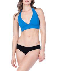 8b944d81f2 Lauren by Ralph Lauren - Beach Club Solid Banded Halter Bikini Top - Lyst