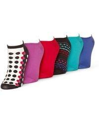 Hue - Microfiber Socks 6 Pair Sport Pack - Lyst