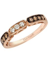 Le Vian Chocolatier? 14k Strawberry Gold? Ring With Chocolate And Vanilla Diamonds? - Metallic