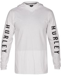 Hurley - The One Hooded Long Sleeve T-shirt - Lyst