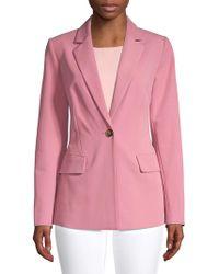 Donna Karan - Classic Notch Jacket - Lyst