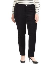 Lauren by Ralph Lauren - Plus Stretch Velvet Premier Straight Pants - Lyst