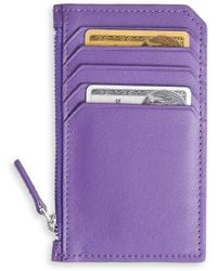 Royce - New York Zippered Credit Card Leather Wallet - Lyst