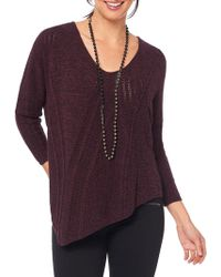 Lyst - Democracy Cold Shoulder Ribbed Sweater in Gray bba2d67a5
