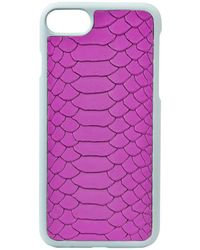 Gigi New York - Python-embossed Leather Iphone 7 Case - Lyst