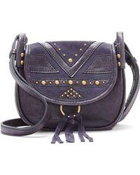 Lucky Brand - Studded Leather Crossbody Bag - Lyst