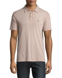 John Varvatos - Classic Short-sleeve Cotton Polo - Lyst