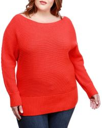 Lucky Brand - Plus Off-the-shoulder Jumper - Lyst