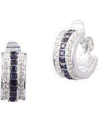 Ralph Lauren - Silvertone Rhinestone Clip Earrings - Lyst