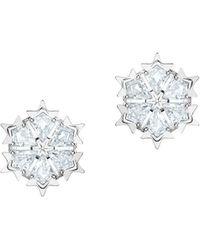 Swarovski - Rhodium-plated And Crystal Magic Stud Earrings - Lyst