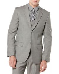 Perry Ellis - Big And Tall Textured Suit Jacket - Lyst