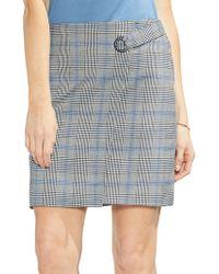 Vince Camuto - Sapphire Bloom Plaid Skirt - Lyst