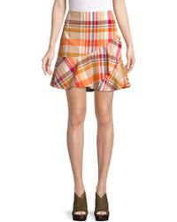 33412eb3 Trina Turk - California Dreaming Conversation Plaid Cotton Skirt - Lyst