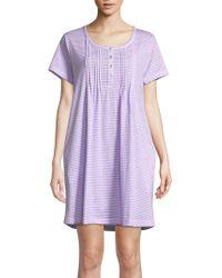 Carole Hochman - Striped Cotton Sleepshirt - Lyst