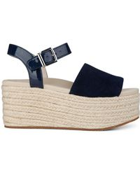 Kenneth Cole - Indra Suede Wedge Espadrilles - Lyst