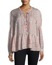 William Rast | Long Bell Sleeve Atwood Top | Lyst