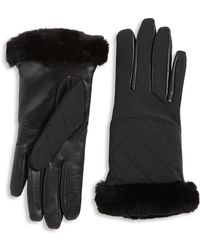UGG - Quilted Leather And Shearling Sheepskin Glove - Lyst