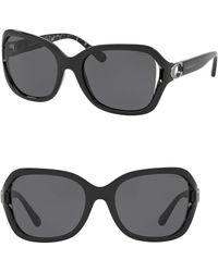 COACH - 57mm Square Sunglasses - Lyst