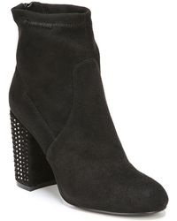 Fergie - Suede Embellished Booties - Lyst
