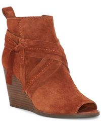 Lucky Brand - Zippered Wedge Booties - Lyst