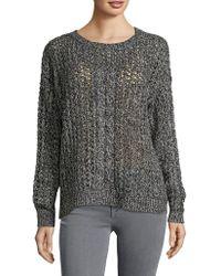 Tommy Bahama - Crochet Roundneck Sweater - Lyst
