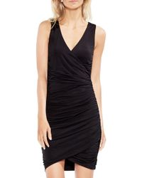 Vince Camuto - Zen Bloom Ruched Wrap Dress - Lyst