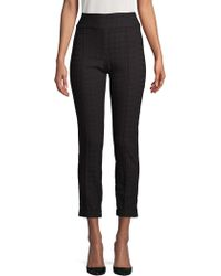 Lord & Taylor - Petite Tonal Houndstooth Pants - Lyst