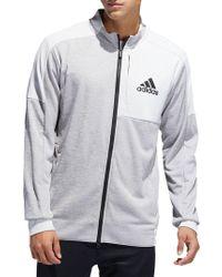 adidas - Full-zip Fleece Jacket - Lyst