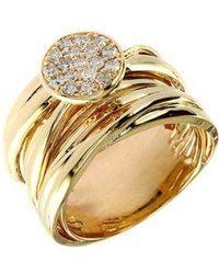 Effy - Diamond And 14k Yellow Gold Stacked Ring - Lyst