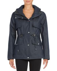 Cole Haan - Textured Waterproof Jacket - Lyst
