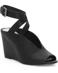 1.STATE - Felidia Leather Ankle-strap Wedge Sandals - Lyst