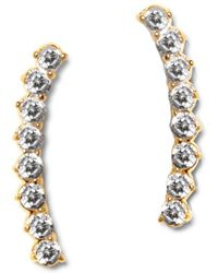 Vince Camuto - Thin Studded Crystal Drop Earrings - Lyst