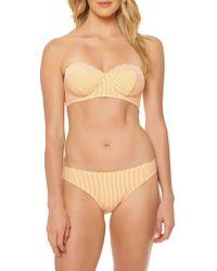 Jessica Simpson - ??calloped Edge Bandeau Bikini Top - Lyst