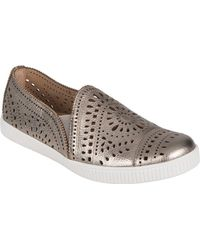 Earth - Tayberry Perforated Leather Sneakers - Lyst