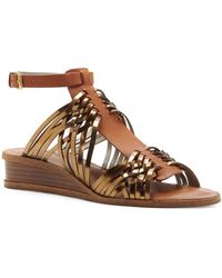 1.STATE - Maliyah Leather Wedge Sandals - Lyst