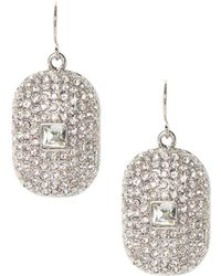 Vince Camuto - Pave Crystal Drop Earrings - Lyst